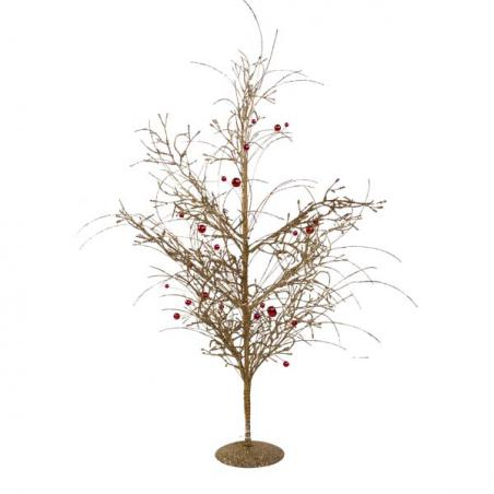 Brown Glass Table Top Tree - 33cm