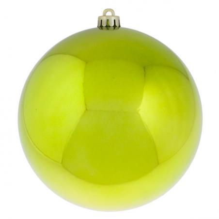 Lime Green Shatterproof Baubles  - Single 200mm Matt