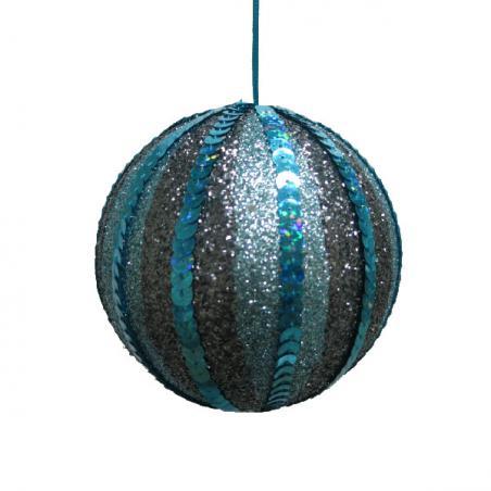Dark Blue Shatterproof Baubles  - Single 200mm Matt