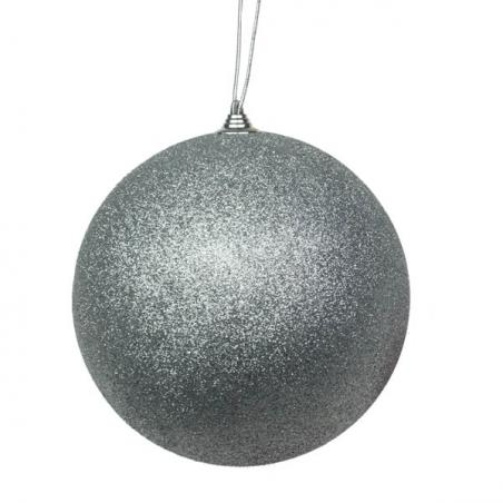Luxury Silver Satin Finish Shatterproof Baubles - Pack 4 x 140mm