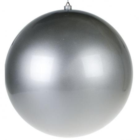 Steel Blue Fashion Trend Shatterproof Baubles - Pack Of 4 x 100mm