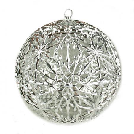 Foil 270cm Chunky Flower Garland - Silver