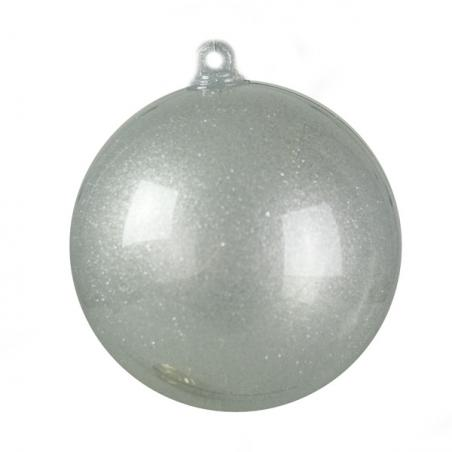 Silver Bamboo Design Glitter Table Top Tree - 60cm