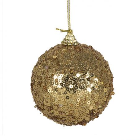 Brown Ribbed Glass Baubles - 12 x 3cm