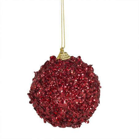 Large Red Sequin Bauble - 150mm