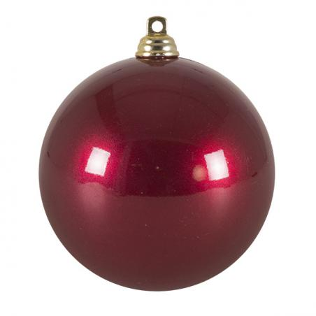 Silver Metallic Finish Shatterproof Bauble - 80mm