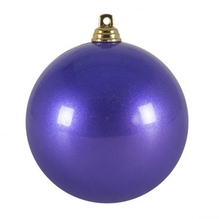 Blue Metallic Finish Shatterproof Bauble - 80mm