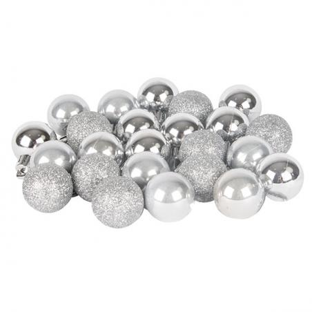Set Of 6 Silver Foil Glitter Wine Glass Charms