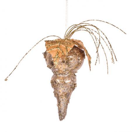 Gold Chandelier Hanging Decoration - 11cm X 11cm X 13cm