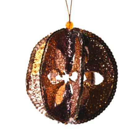 Brass & Enamel Orange Napkin Ring