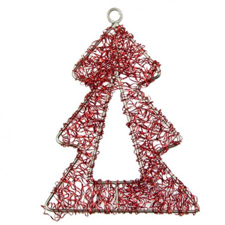 Red And White Hanging Springy Santa - 26cm