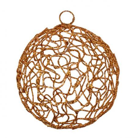 White Chunky Knit Wool Bauble - 80mm