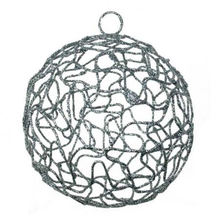 Silver Metal Starburst Hanging Decoration - 150mm