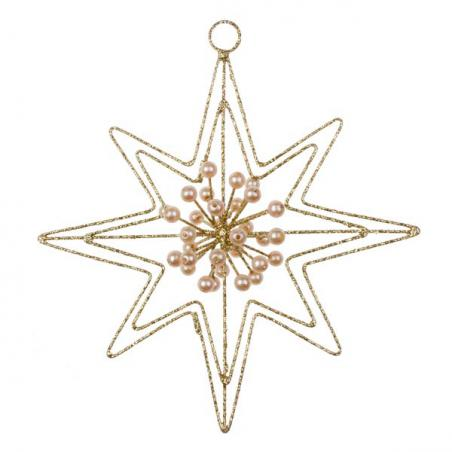 Gold Die Cut Bethlehem Star Decoration - 100mm