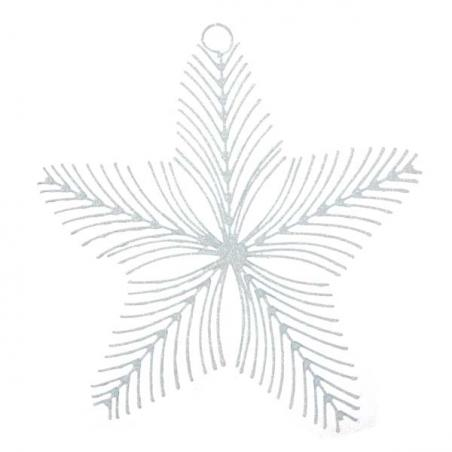 White Iridescent Star Burst Decoration - 32cm