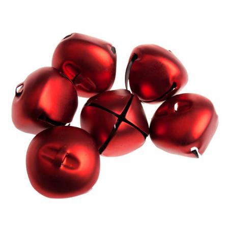 Christmas Red Shatterproof Hearts Mixed Finish - 6 X 70mm