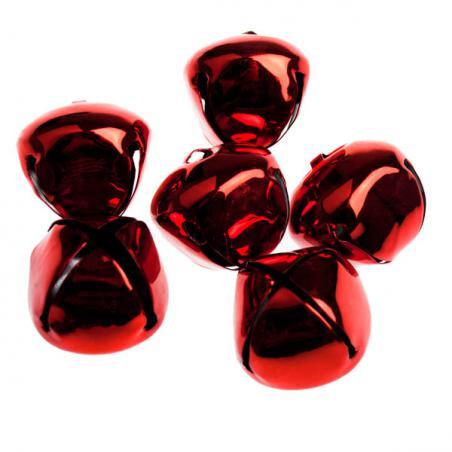 Red Matt Christmas Jingle Sleigh Bells - 12 x 5cm