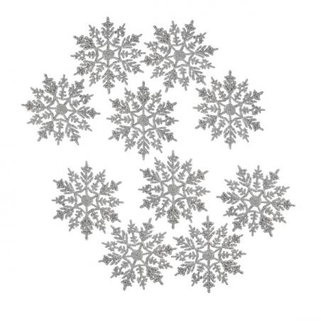 Silver Transparent Diamond Icicles - 4 X 15cm