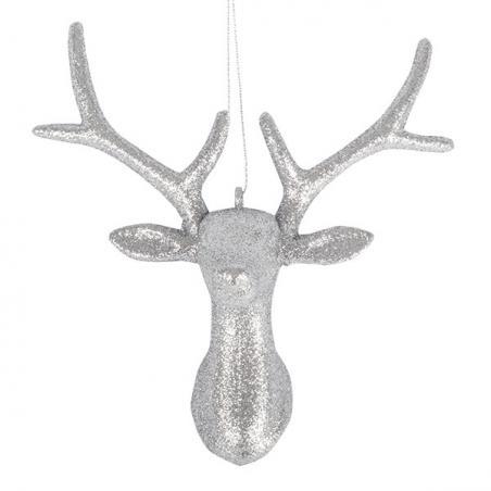 Silver Tinsel Tree Top Star - 23cm