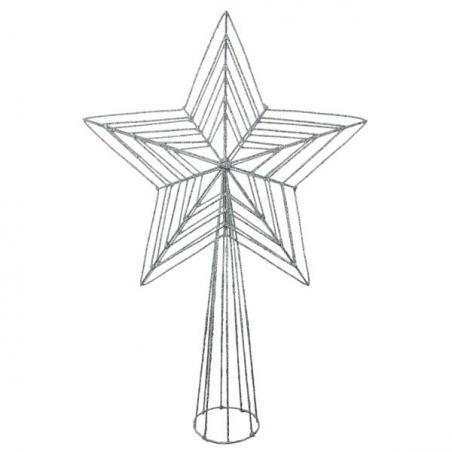 Silver Metallic Display Bow - 60cm