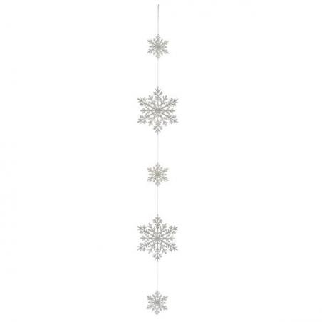 Shiny Silver Jingle Bell Garland  -  1.5m