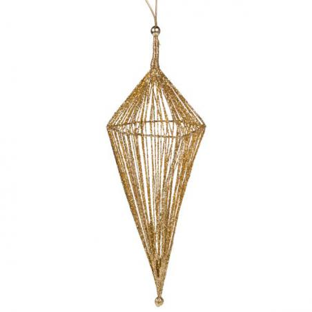 3D Hanging Gold 25cm Star Decoration