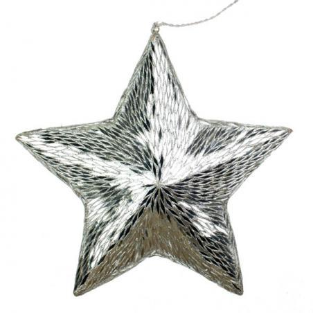 Silver Glitter Bow Decoration - 20cm x 15cm