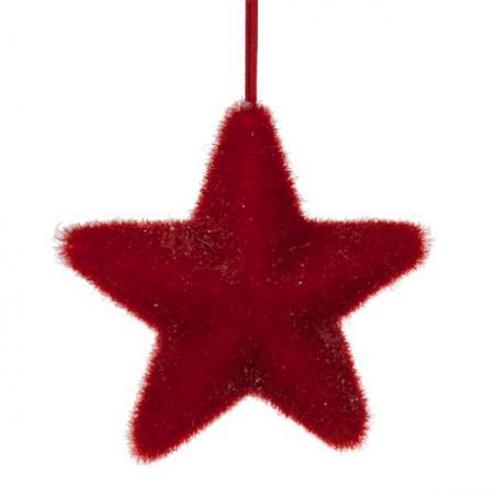 Christmas Red Ceramic Stocking Decoration - 6cm
