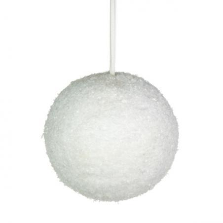 White Sparkle Snowball Range - 200cm Garland