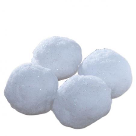 White Flocked Snowball - 10cm