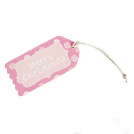 Gisela Graham Pastel Wooden ''Have A Merry Little Christmas'' Gift Tag - 10cm