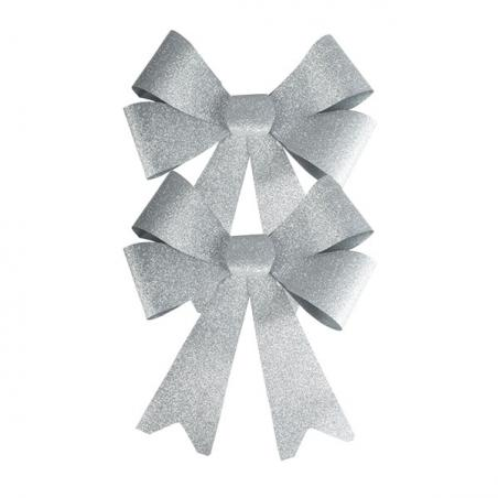 3D Silver Square Acrylic Garland