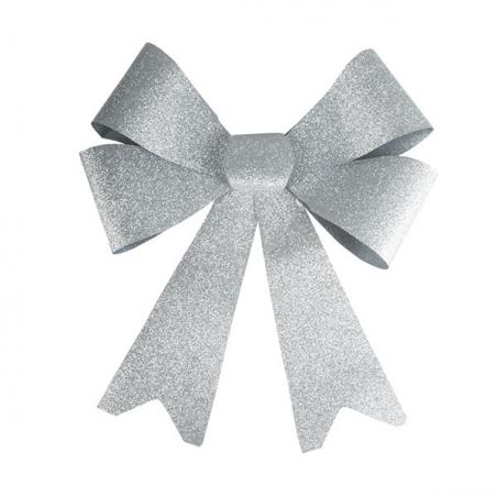 Wire Edged Shiny Silver Crinkle Ribbon - 15m X 38mm