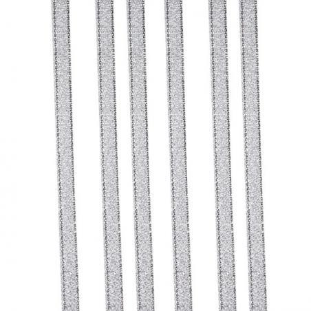 Silver Glitter Organza Ribbon - 25m x 15mm