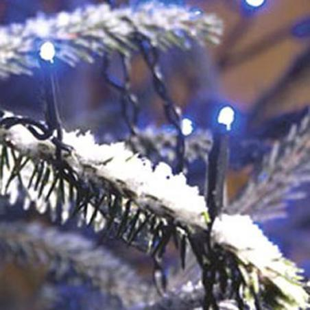 Konstsmide 12m Length Of 180 Blue Multi Function Outdoor Micro LED Fairy Lights. Black Cable.