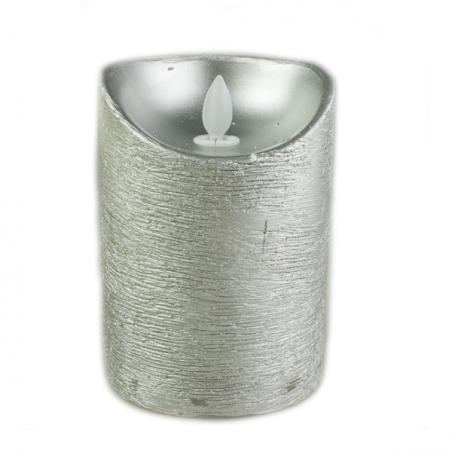 Tube Of 12 Silver Shiny Jingle Bells - 38mm