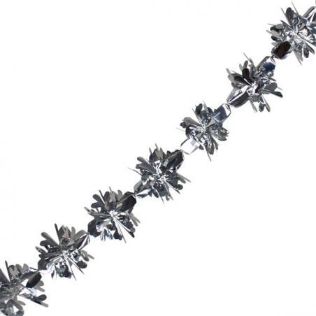 5 Point Silver Glitter Star - 30cm