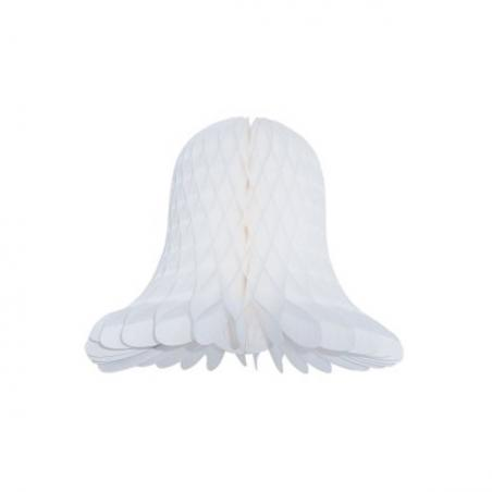 White Flame Resistant Honeycomb Paper Bell - 30cm