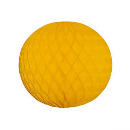 Gold Flame Resistant Honeycomb Paper Ball Hanging Decoration - 30cm
