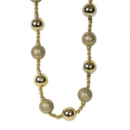 Cluster Of 6 X 100mm Gold Shatterproof Baubles With Gold Metallic Branch Hanger