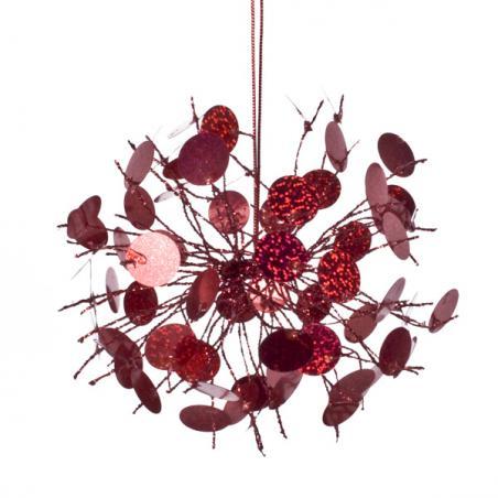 Red Glass Tealight Holder - 70mm