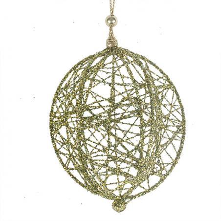 Decorative Copper Wire Mesh Hanging Ball - 13cm
