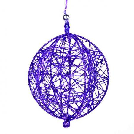 Decorative Pink Wire Mesh Hanging Ball - 13cm