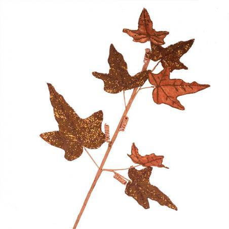 Brown, Orange & Gold Sheer Flower Clip - 20cm