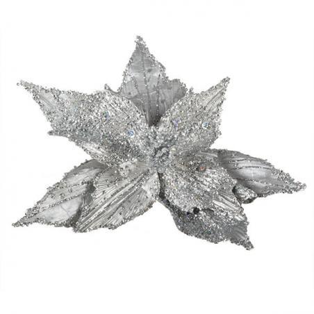 Large Silver Glitter Reindeer Decoration - 35cm