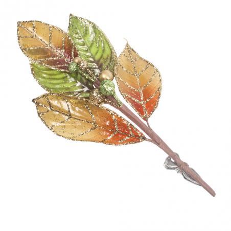 Two Tone Copper Metallic Finish Leaf Spray - 81cm
