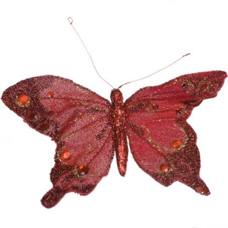 Red Butterfly On Clip - 35cm x 28cm