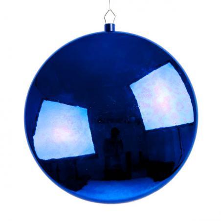 Blue Disc Hanging Decoration - 20cm