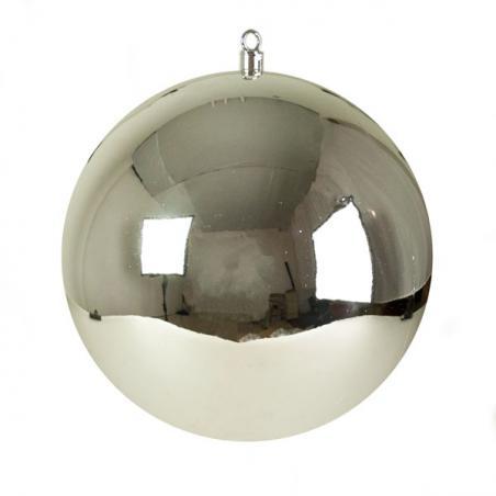 Silver Glitter Fern Spray - 70cm