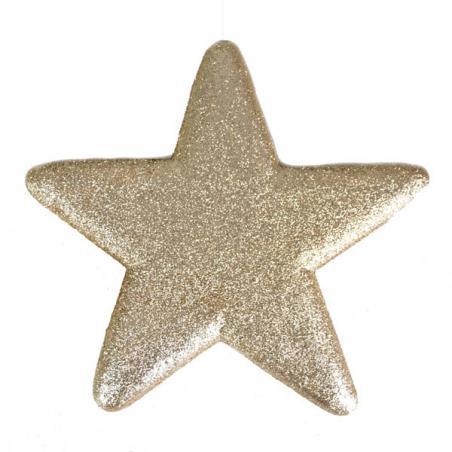 25cm Glitter Display Star Hanger - Black